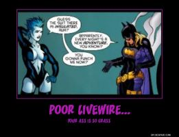 Batgirl and Livewire Poster by Jyger85