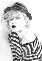 Black and White portrait by rogueXunited