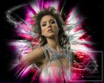 Jessica Alba Abstract XplosioN by gfx-micdi-designs
