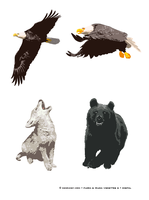 Animal Illustrations by kenraney