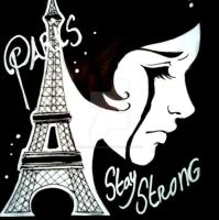 paris stay strong by Hollow-Moon-Art