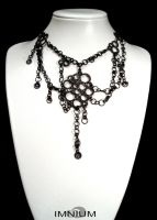 Bubbles black -necklace- by IMNIUM