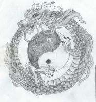 Chinese Ouroboros 1 by WolfeDente