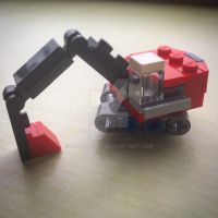 LEGO Microscale digger by Sponge1310