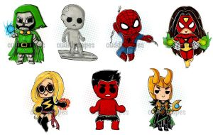 Marvel Buttons by CuddlyCapes