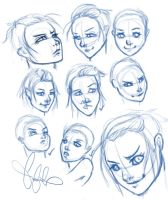 Expression Practice by bekamonster