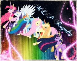 ~ My Little Pony, Main Six Royalty ~ by Angelicsweetheart