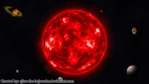Red Giant Star with 6 Exoplanets by cjlou-the-bejeweler