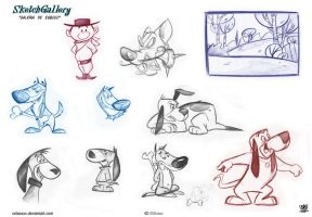 Cartoon sketch gallery Dogs by celaoxxx