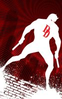White DareDevil by artist Tom Kelly by TomKellyART