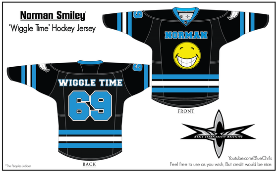 Norman Smiley Hockey Jersey by B1ueChr1s