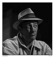 Robert Mitchum by sabbathsoul