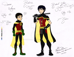 Dick and Damian YJ Style Color by ArkhamLady