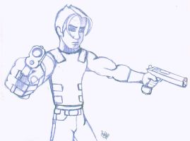 dude with guns by WolviesGurl