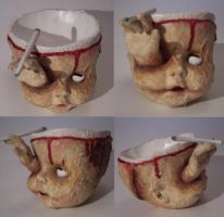 Zombie Baby Head Ash Tray 02 by Neef
