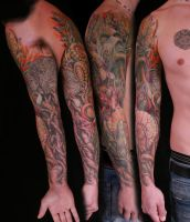 Greenman sleeve by viptattoo