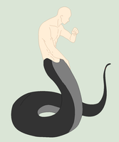 Base Edit - Male Naga Stance by Mature-Bases