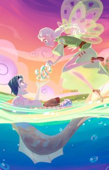 Merman and fairy. by Shadow-Wood