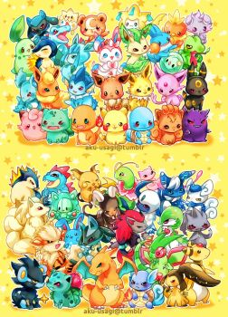 Chibi Pokemon by Evil-usagi