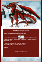 Christmas Dragon Journal by DragonsFlameMagic
