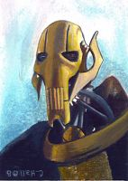 general grievous painted card by charles-hall