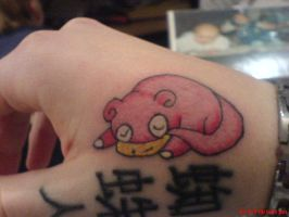 Slowpoke Tattoo by PokeTheCactus