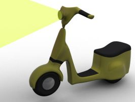 3d Scooter by mrbubs