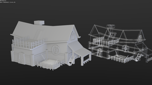 Low-poly house by betasector