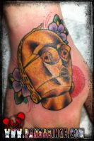C3PO Tattoo by xJoshxSxE