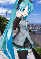 Hatsune Miku's Day Snap Shot_MMD Lat Miku Model by aki-2012-miku