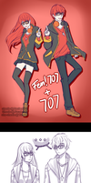 [MM] Double the madness! ft. fem!Seven by C-Chesle