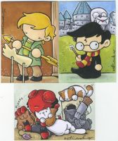very nerdy sketch cards by katiecandraw