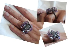 Peony Ring by CrysallisCreations
