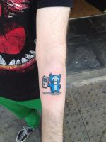 8 Bit Pixel Gamer Tattoo by DaneTattoo