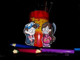 Gravity Falls Paper Children by heeyjayp17