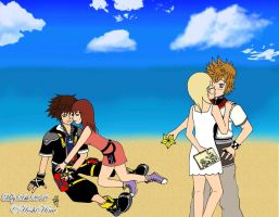 Sokai and Rokunami at beach by HoshiHime5