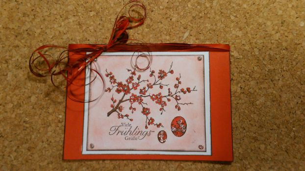 Eastercard  Japanese Blossom Cherry Branch by yosimite