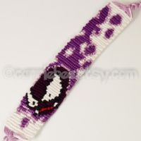 Gastly 1 inch Friendship Bracelet by CarrieBea