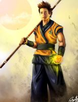 Justin Chatwin is Goku by VEGETApsycho
