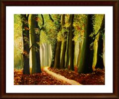 Autumn walking through the wood acrylic by Artisan30