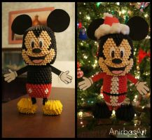 3D Origami: Mickey Mouse by sabrinayen
