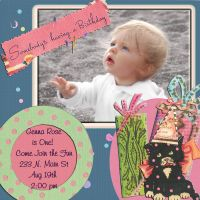 Personalized Baby Invitation by sevymama