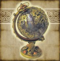 Steampunk Globe Miniature by grimdeva