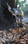 Leather Hawkgirl Helmet - Left Profile by Epic-Leather