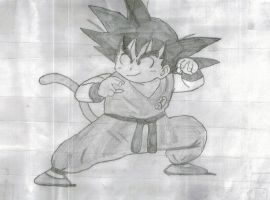 Goku In Battle Stance by Simon-HackMaster