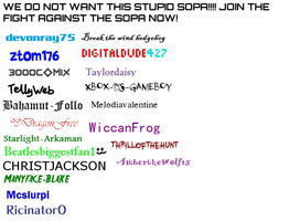 Petition for against SOPA by AmbertheWolf15