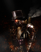 Steampunk Android [Photomanipulation] by SUPERsaeJANG