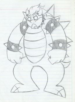 Angry Bowser XD by MileenaKoopa