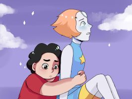 Steven Universe | Pearl and Steven [Speedpaint!] by Lychanchan