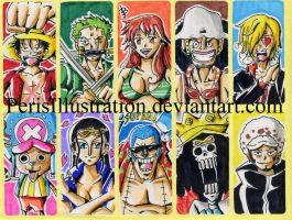 One Piece Stickers by PerisIllustration